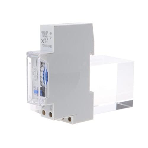 YUSHU Interruptor de temporizador mecánico de 110 V/CA, 220 V, 15 minutos, 24 horas temporizador mecánico programable para enchufes eléctricos tiempo necesario para control automático