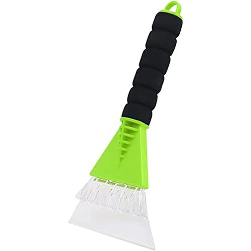Rascador de hielo para coche, para quitar el parabrisas, con mango suave y antideslizante, herramienta y cepillo para quitar la nieve