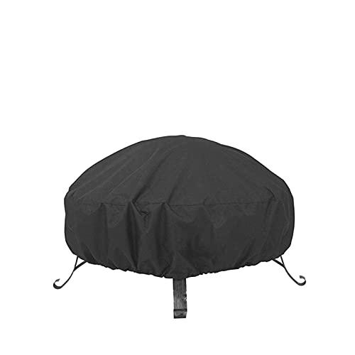 Cubierta suave para parrilla, cubierta redonda para fogatas, impermeable, protectora, protector UV, barbacoa, cocina, antipolvo, jardín al aire libre, cubiertas redondas para muebles (Color: 122x46cm)
