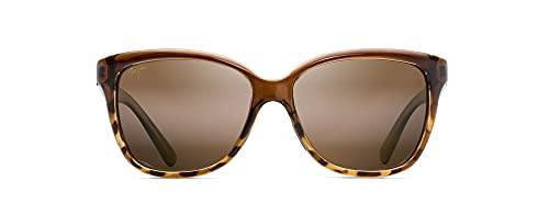 Maui Jim Women's Starfish w/ Patented PolarizedPlus2 Lenses Polarized Fashion Sunglasses, Translucent Chocolate W/Tort/Hcl Bronze Polarized, Medium