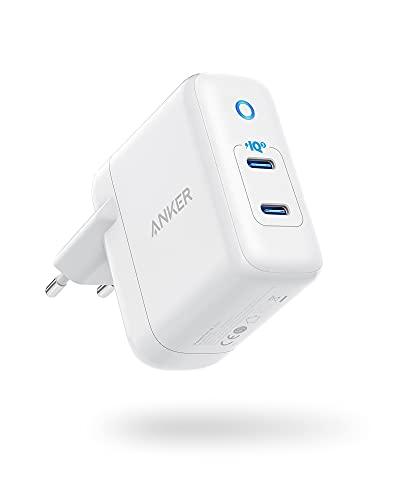 Anker PowerPort III Duo, Cargador de Pared Compacto de Doble Puerto Tipo-C con PowerIQ 3.0, Power Delivery, Compatible con iPhone 12/12 Mini/12 Pro/12 Pro Max/11/XR, Galaxy, Pixel, iPad Pro y más