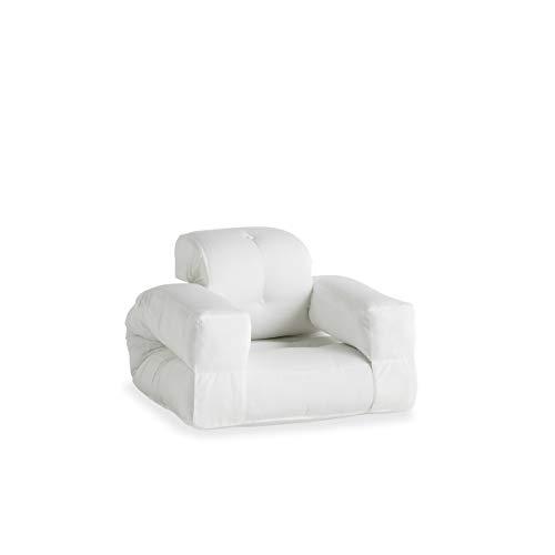 Karup Design Loungesessel und Gartenmöbel von Poltrona Lounge e mobili da Giardino Hippo out, con Tessuto Dralon Resistente allo Sporco e Impermeabile, 90 x 100 x 70 cm, Colore: Bianco
