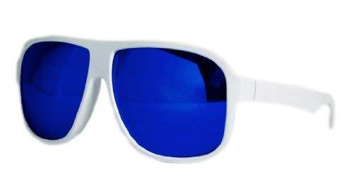 NB Lunettes de Soleil 3818 Rétro Sun Glasses Blue Ice White Shades Unique Miroir Lunettes de Soleil CE UV400