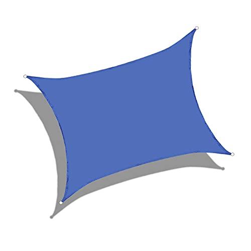 AMSXNOO Vela De Sombra, 98% De Bloqueo UV Impermeable a Prueba De Viento Vela Toldo, Rectangular Toldos Exterior por Exterior...