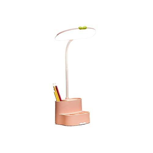 Lámpara de escritorio, DIRIGIÓ Luz de escritorio con 3 modos de color y atenuación continua, lámpara de escritorio de protección ocular con soporte de pluma, lámpara de estudio para el dormitorio de e