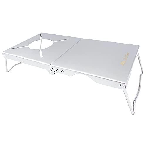 EnHike 遮熱テーブル SOTO ST-330 遮熱板 シングルバーナー用 テーブル 折畳マルチタイプ 4種類バーナー対応 18-8ステンレス製 ミニマルワークトップ 多機能な製品 軽量 コンパクト キャリーバッグ付き