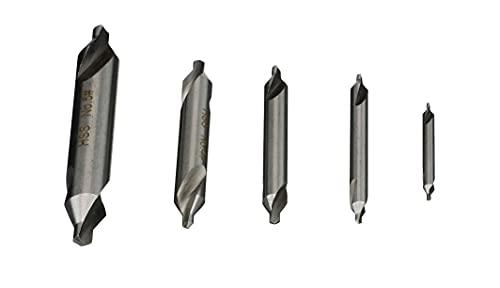 HHIP 5000-0020 HSS Center Drill Set, 5 Piece (No.1-No.5)