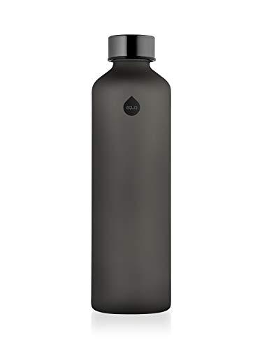EQUA Mismatch Ash Trinkflasche aus Glas, 750 ml, Erwachsene, Unisex, Grau, Einheitsgröße
