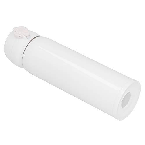 Shipenophy Cerradura Anti-Apertura Incorrecta Botella de Agua aislada de 500 ml Taza de Agua al vacío Portátil para Viajes Escolares Trabajo Uso en el hogar(White)