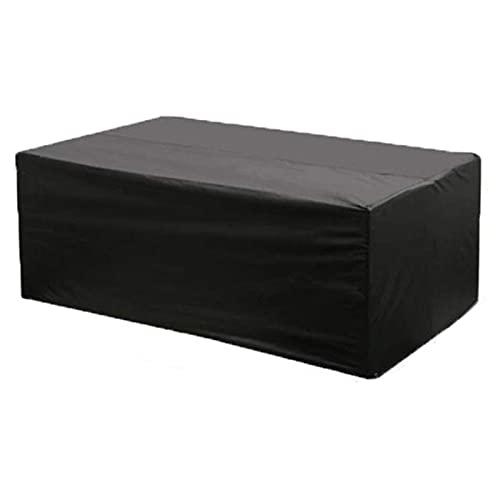 Juego de fundas para muebles de jardín, ratán, fundas protectoras para sillas de mesa, con cordón, resistente al viento, impermeable, lluvia, nieve, polvo, antiviento, antirayos UV(negro/120)