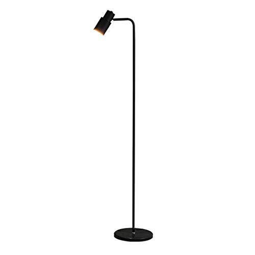 Lámpara de pie Industrial Lámpara de pie ajustable, 65 pulgadas de metal de la lámpara de pie, for la sala de lectura de la luz del piso Dormitorio Oficina Luz de Pie (Color : Black)