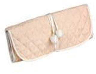 Pink Silk Jewelry Roll or Cosmetic Roll
