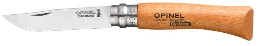 Opinel N Degree7 Bechwood Handle Carbon Steel Knife, 8 cm Blade