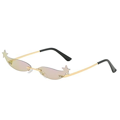 LUOXUEFEI Gafas De Sol Gafas De Sol Sin Montura Mujer Hombre Mujer Gafas De Sol