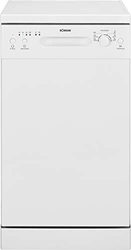 Bomann GSP 7405 Geschirrspüler, Stand/Unterbau, 45 cm Ausführung, 6 Programme, 9 Maßgedecke, LED-Kontrollanzeigen, weiß