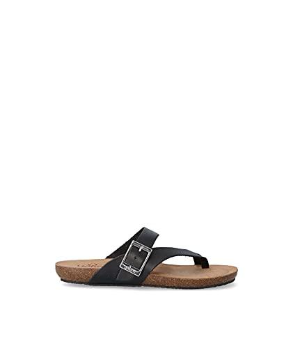 YOKONO IBIZA-013 Damen Sandalen, Schwarz - Schwarz - Größe: 39 EU
