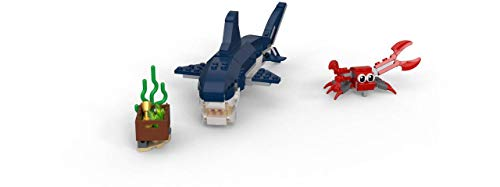 Product Image 4: LEGO Creator 3in1 Deep Sea Creatures 31088 Make a Shark, Squid, Angler Fish, and Crab with this Sea Animal Toy Building Kit (230 Pieces)