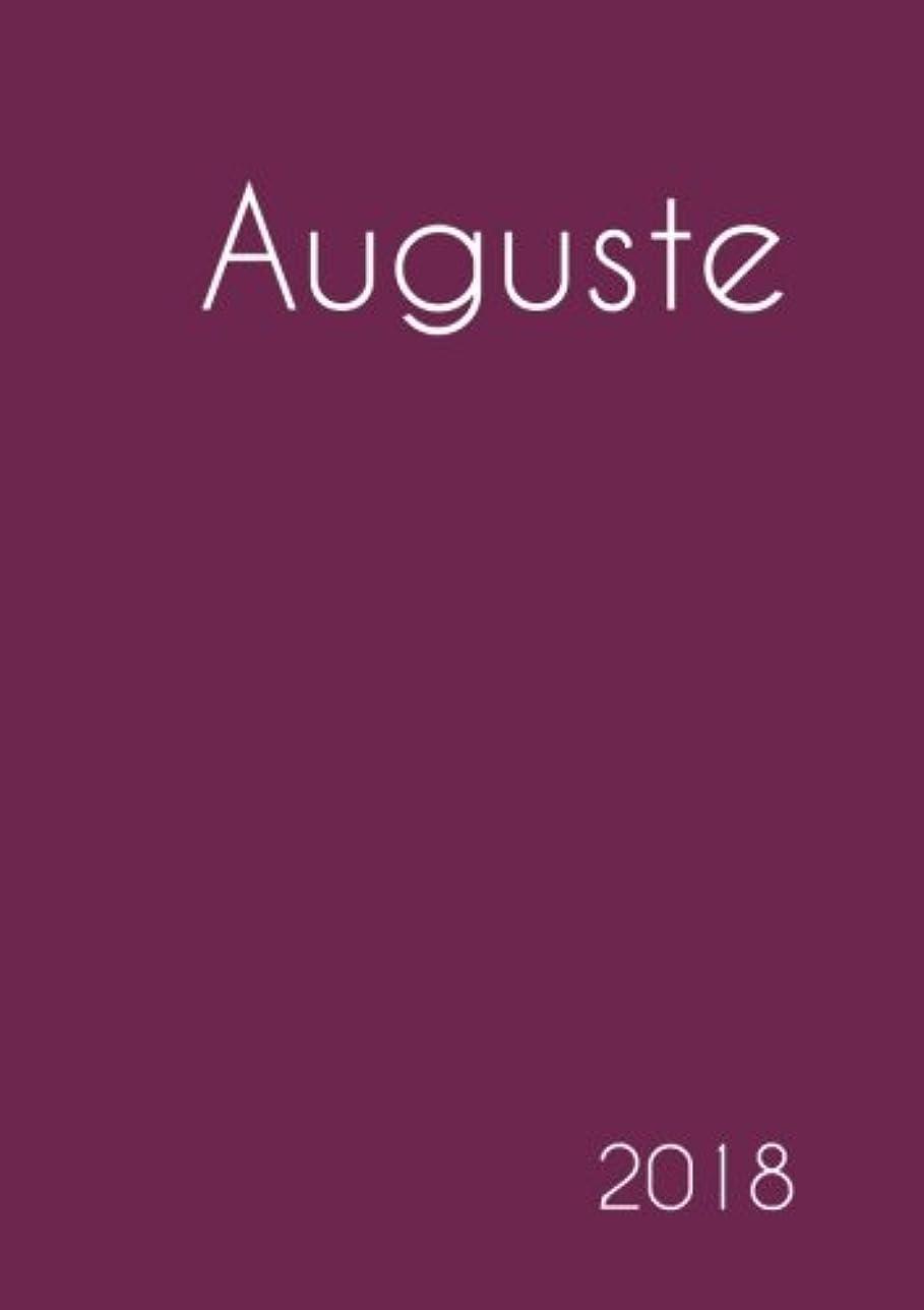 魅力的運賃簿記係2018: Namenskalender 2018 - Auguste - DIN A5 - eine Woche pro Doppelseite