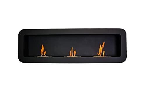 GLOW FIRE Trelleborg - Chimenea de etanol (150 cm, 4 horas de combustión), color negro