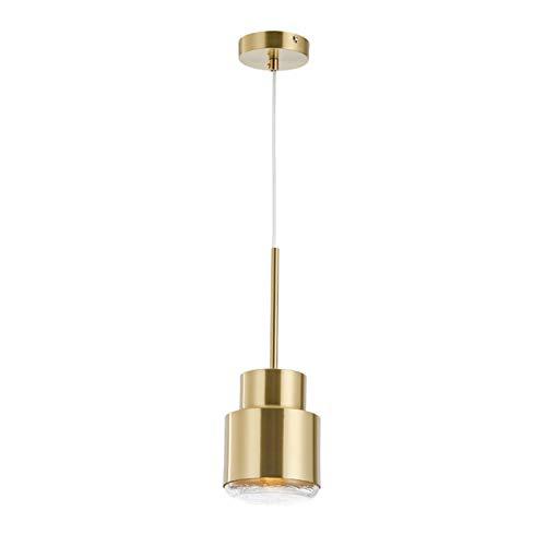 Zzaoxin Candelabros posmodernos luz de lujo metal trabajo pequeño oro colgante modelo simple casa restaurante café bar sola cabeza lámpara de cabecera 13 * 16,5 cm