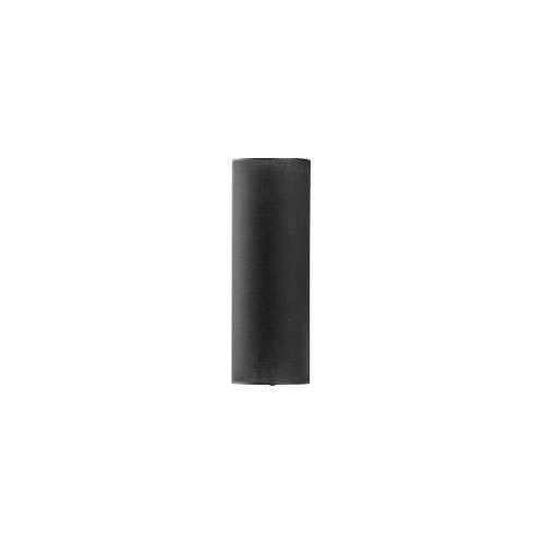 Schmaler Lampenschirm LUNETA für Stehleuchten E27 Ø23cm Zylinder in Schwarz Stoff Leuchtenschirm