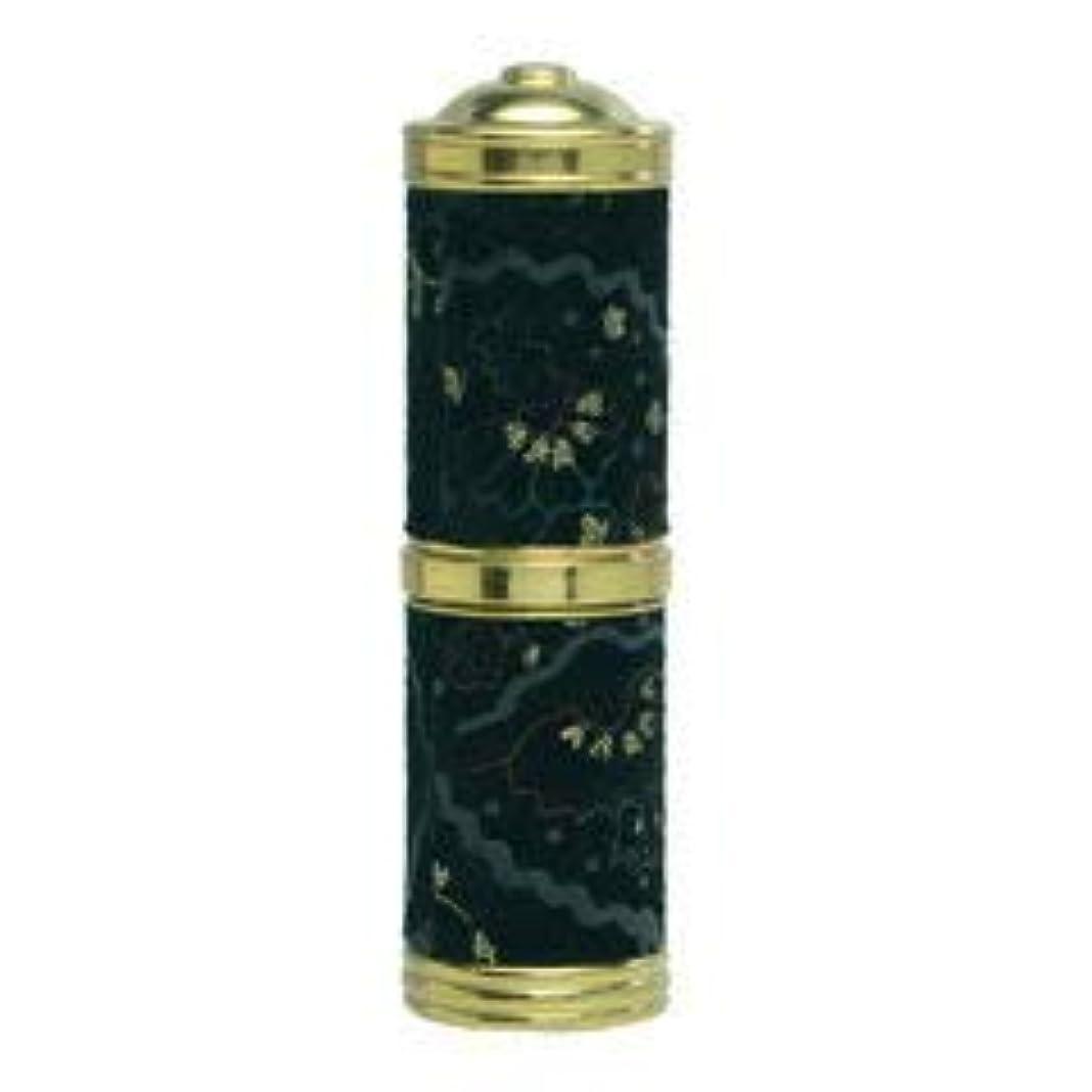 【ヒロセ アトマイザー】エスニックレザー アトマイザー (真鍮 革巻き) 60603 BK (ブラック) 4ml