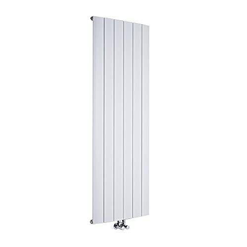 Hudson Reed Aurora Radiatore Termoarredo Verticale di Design - Termosifone in Alluminio con Finitura Bianca - 1840W - 1600 x 565mm - Riscaldamento ad Acqua Calda