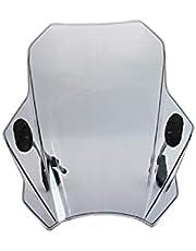 Yhfhaoop Pantalla de Viento Ajustable de la Motocicleta Parabrisas para Yamaha FZ09 / MT09 2013-2016 hnyhf (Color : Gray)