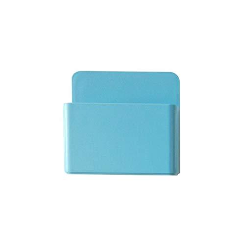 Contenedor de bolígrafos con imán para nevera, 1 soporte magnético para bolígrafo, caja de almacenamiento, rejilla de goma, organizador de plástico para aula, organizador de bolígrafos (color: azul)