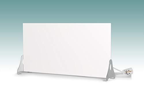 Magma® Infrarotheizung Metallic Standversion - Deutscher Hersteller seit 1992 - Magmaheizung mit 10 Jahren Garantie (400 Watt / 600 x 300, Weiß)