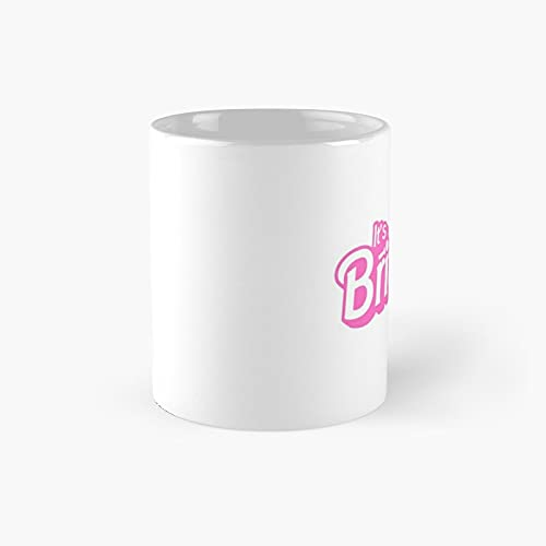 The Office It's Br.i.t.n.e.y Bitch Barbie Pink White Classic Mug - Ceramic Coffee (11 Ounce) Tea Cup Gifts For Bestie, Mom And Dad, Lover, Lgbt