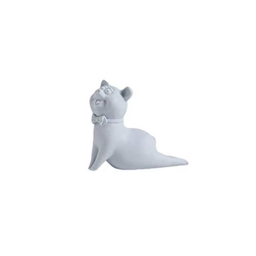 YUMEI Decoración creativa del hogar Nordic creativo Inicio Sala Sala Dormitorio gabinete del vino suave Decoración pequeños adornos de cerámica moderna simple de Yoga Las estatuas de cerdo (Tamaño: L)