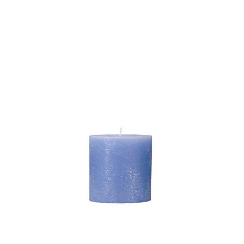 Rustico durchgefärbte, strukturierte Stumpenkerze 50/50 mm Mittelblau | Brenndauer: ca. 15 Std | Original von Steinhart