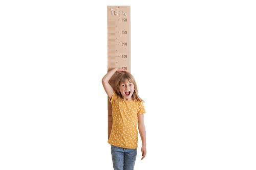 VINTIUN | Medidor Infantil Personalizable | Tabla de Crecimiento de Altura para Pared | Customizable con Nombre, Símbolos y Flechas | Regla Medidora en Madera | 115 x 19,50 cm