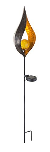LED zonnelamp met grondpen tuindecoratie met verlichting kunststobject van brons (tuinlamp, zonnelamp, tuinverlichting, buitenlamp, bed lamp)