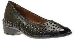 ARA Jenny Women's Rashida Slip-On Black Leather US 7.5 Medium Plus