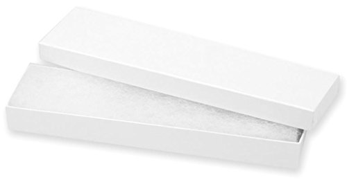 Darice 1162-95  Jewelry Box with Filler 8-Inch by 2-1/6-Inch by 7/8-Inch  , 6-Pack,White