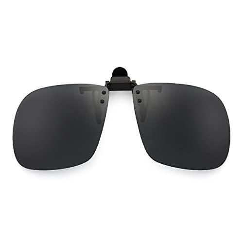 Gafas de sol polarizadas cuadradas con clip en moda piloto mujeres hombres Filp Up Uv400