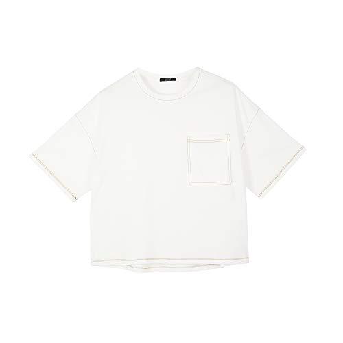 Parfois - Camiseta Oversize con Bolsillo - Mujeres - Tallas S - Blanco