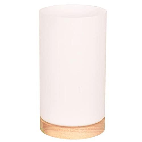 Lámpara de mesa, USB recargable táctil regulable lámpara de mesita de noche blanca cálida luz de...