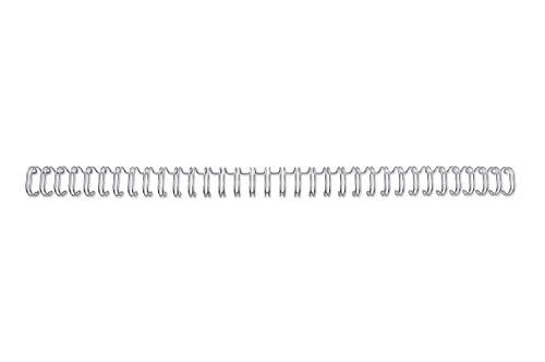 WireBind Drahtbinderücken, 100 Stück, 11mm, silber