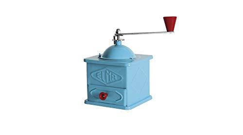 Molinillo de chapa azul celeste ELMA, decorativo - Molino de café manual