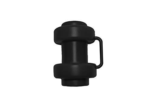 awshop24 6 Stück Schwarze Kappen für Innenliegendes Sicherheitsnetz Stangen Ø 25 mm Ersatzteil