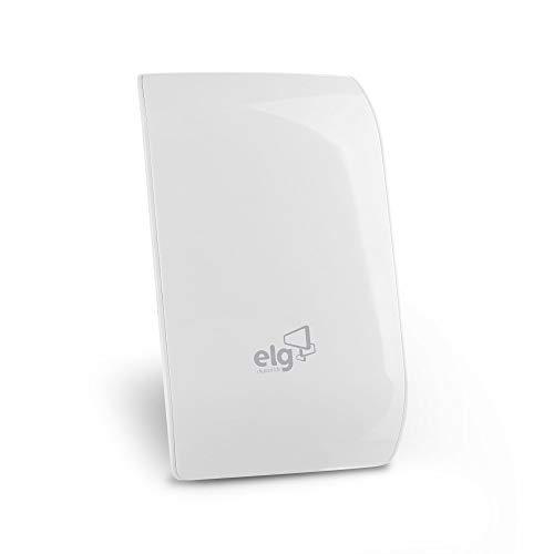 Antena Digital Interna para TV Alcance 40Km com Cabo de 3,5m modelo, Elg, HDTV5000WH