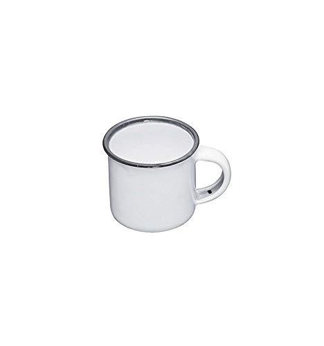 Living Nostalgia Becher 5cm in weiß/grau, Emaille, 30 x 18 x 18 cm