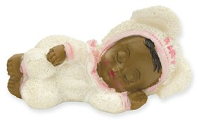 Club Green Harz slaapzak zwart baby, roze, 60 x 30 mm, 12 stuks