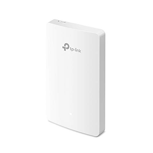TP-Link Omada AC1200 Wireless MU-MIMO+ Dual-Band Gigabit Wandplatte Access Point, 802.3af/802.3at, einfache Wandmontage, integriert in Omada SDN, kostenlose EAP Controller-Software (EAP235-Wall)