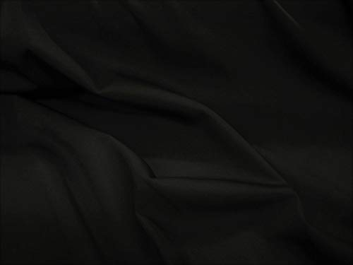 Discount Fabric Lycra/Spandex 4 way stretch Solid Black LY400 by Payless Fabric