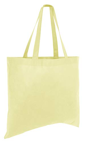 (50 Pack) Set of 50 Cheap Budget Promotional Large Tote Bags (Natural)