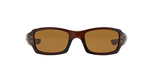 Oakley - Gafas de sol Rectangulares OO9238-08, Polished Rootbeer/Bronze Polarized (S3)